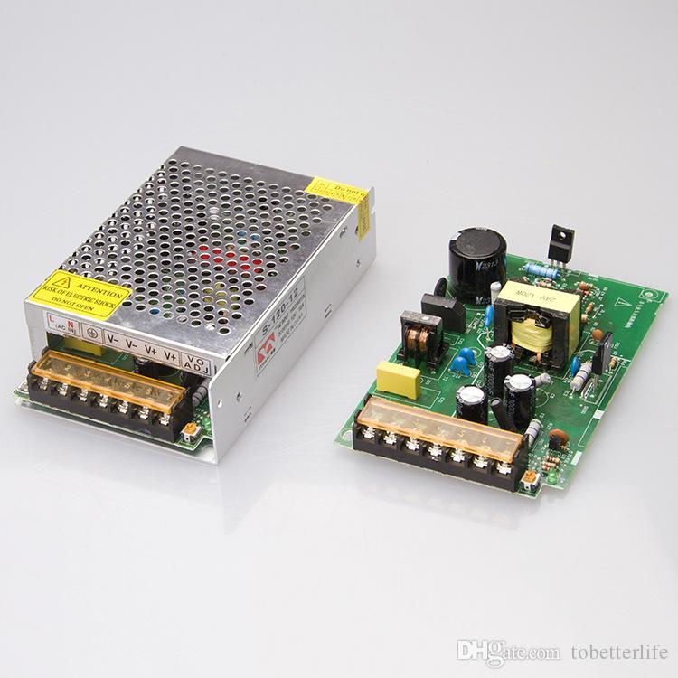 LED تبديل امدادات الطاقة محول سائق المعادن 12V 5A 60W 120W 180W 480W المدخلات 110 فولت 220 فولت مع مروحة لنوحيات شرائط