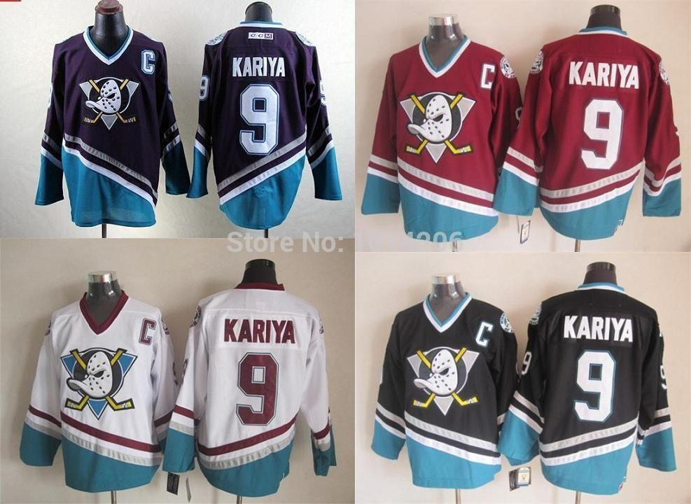 ace0e5f4119 2019 2015 Paul Kariya Jersey  9 Anaheim Ducks Jersey CCM Vintage Throwback Mighty  Ducks Of Anaheim Jerseys Purple Turquoise White From Espn sport