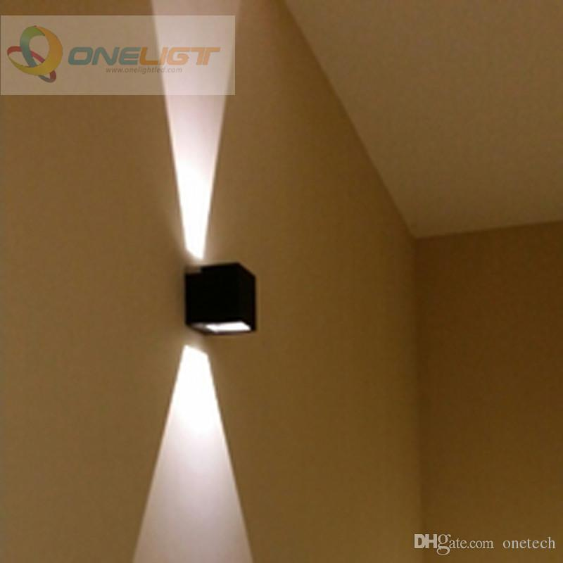 Discount 8w Dimmable Cob Ip65 Cube Adjustable Surface Mounted Outdoor Led LightigLed Wall Light Up Down Lamp From China