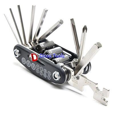 15 dans une clé multifonctionnelle Combinaison de type portable clé allen outil de vélo de clé à clé à main combo