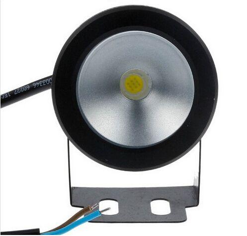 Unterwasser führte warmes weißes Licht 1000LM wasserdichtes IP68 10W 12v Brunnenpool Lampenkörper schwarzes freies Verschiffen