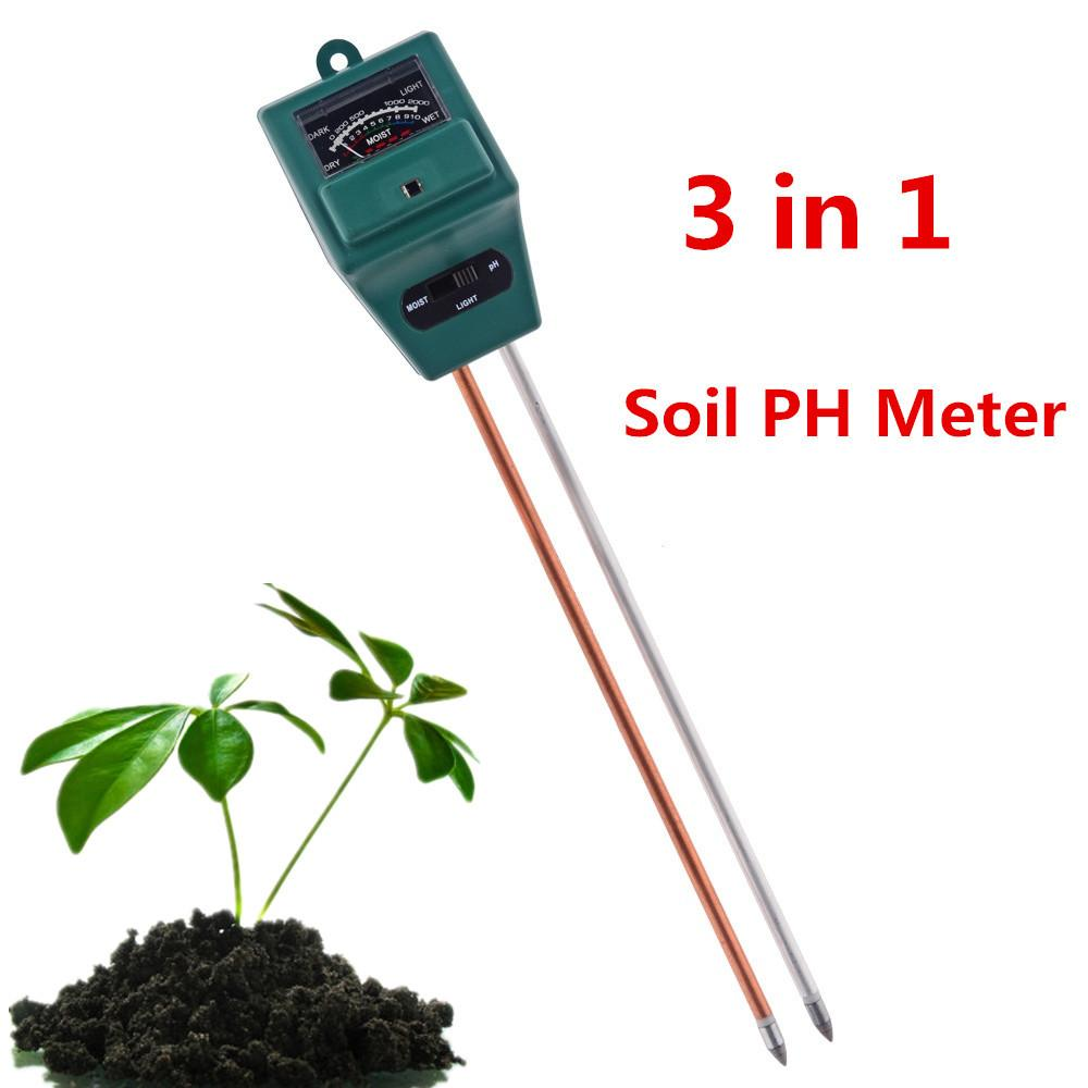 3 in 1 PH Soil Tester Moisture Light Sensor PH Meter for Indoor Outdoor Garden Plant Flowers
