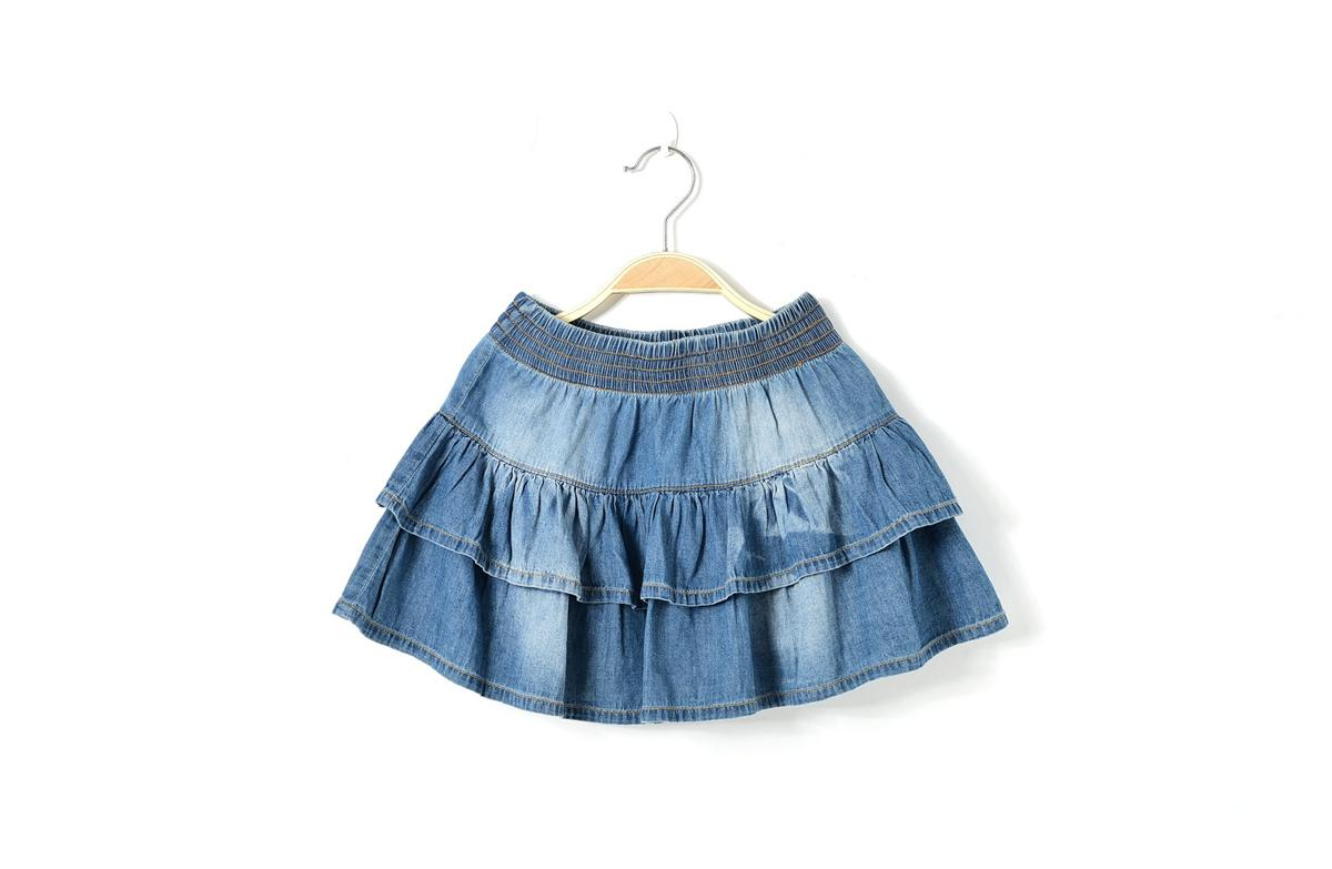2017 Girls Denim Tutu Mini Skirts Summer Children Jeans Kids ...