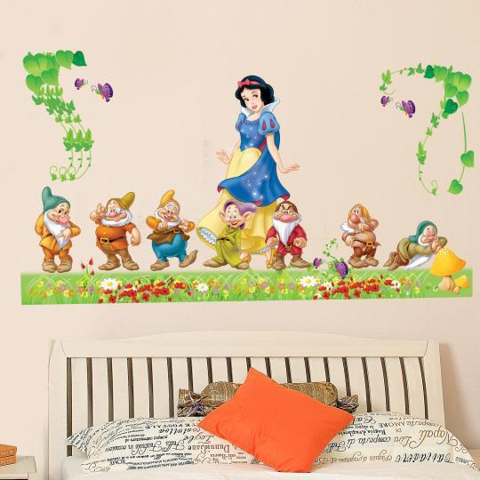 Exceptional Large Snow White And The Seven Dwarfs Wall Decal Stickers For Kids Bedroom  Nursery Living Room Decor Cartoon Snow White Wall Art Murals Wall Sticker  Deal ... Part 20