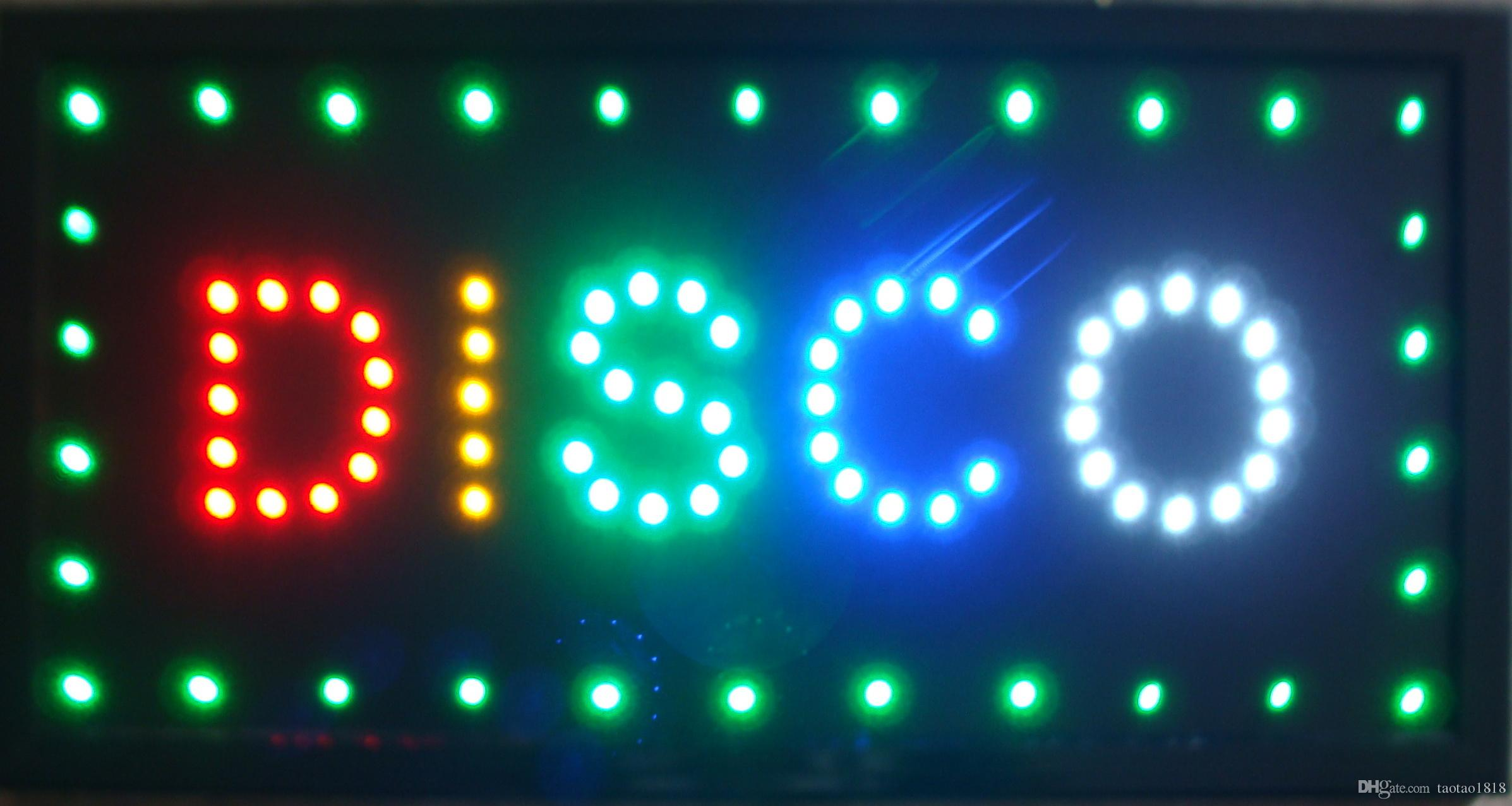 LED Disco Sign Ultrahelles LED Neonlicht Animiertes 19x10