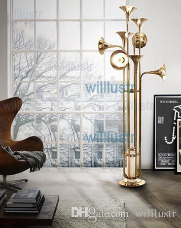 delightfull botti lámpara de pie salón hotel lámpara sala de estar trompeta forma suelo iluminación nórdico diseño novedad luz