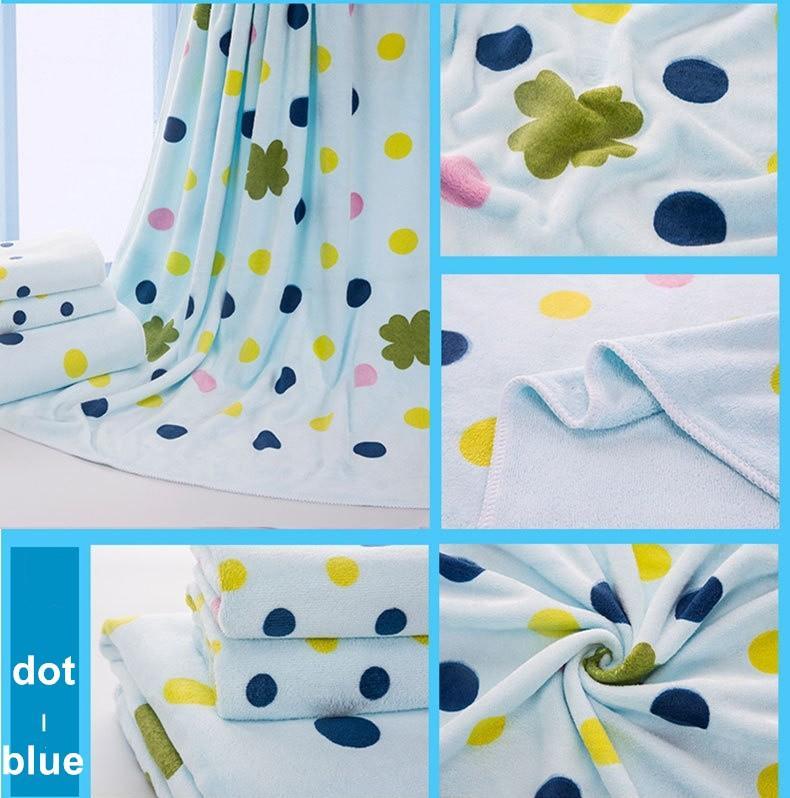 Mikrofaser Badetuch Set Kinder Geschenk Badetuch + Gesicht Handtuch Punkt Baum Cartoon-Kaninchen, rosa, blau