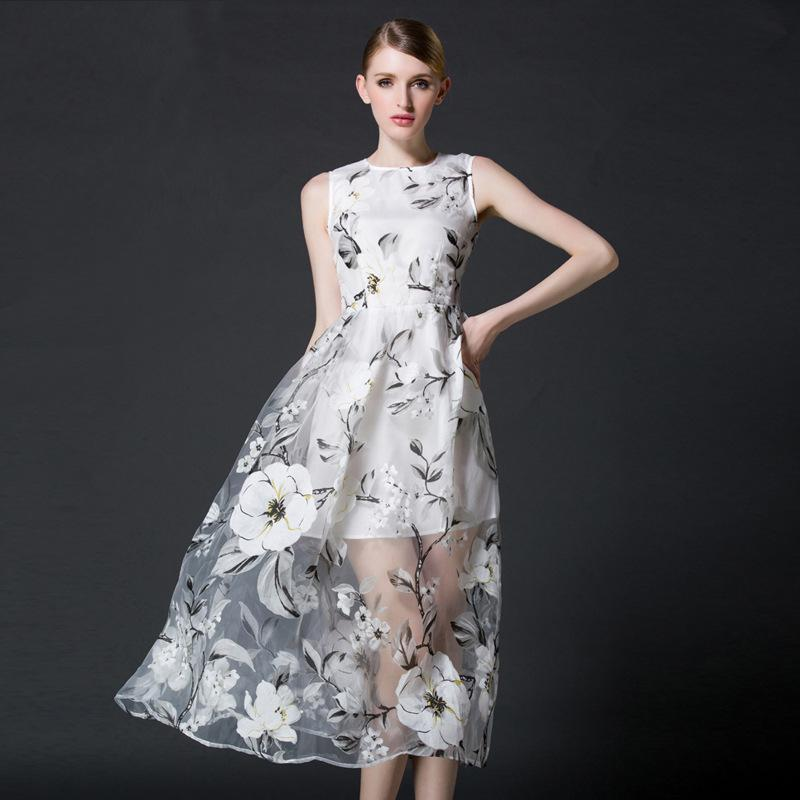 Organza a Line Dress