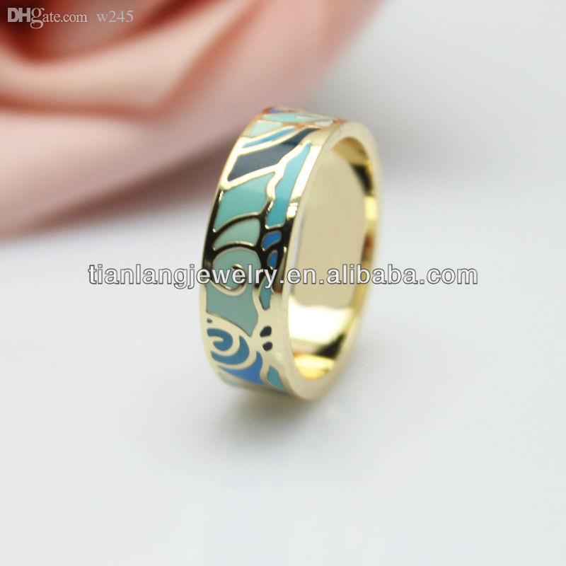 black austrian crystal enamel luxury women rings ring fysara for jewelry rose couple gold color item