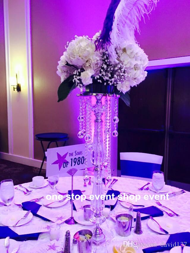 Vaso de flor de metal alto para decoração de casamento / decoração de casa