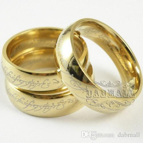 Rings Supreme Lord The Rings Stainless Steel Golden Ring Hot