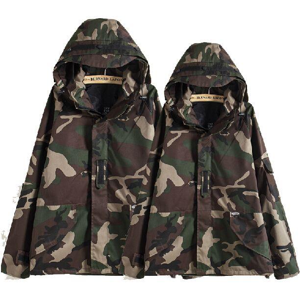 adf8dbfb02b Fall Tactical Camouflage Jacket Men Women Plus Size Camo Hooded Windbreaker  Jackets Canvas Jacket Parka Fashion Streetwear Fall Mens Jackets Mens Jaket  From ...