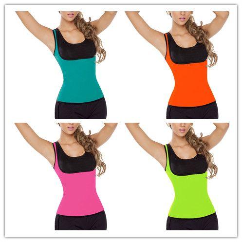 93ff471c041e7 2019 Hot Neoprene Slimming Body Shaper Control Vest Tops Womens Sport  Workout Waist Cincher Trainer Shapewear Plus Size Waist Training Corset From  ...