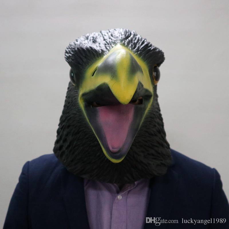 Hot Sale Halloween Birds Parrot Mask Head Halloween Costume Theater Prop Novelty Latex Rubber Animal Pigeon Mask Eagle Bird