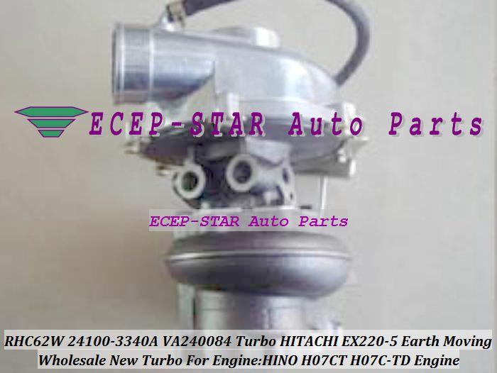 RHC62W 24100-3340A 24100-3340 2410 VA240084 24100-3260A Turbocompresor para Hitachi EX220-5 Movimiento de tierra HINO H07CT H07CTD H07C-TD Motor
