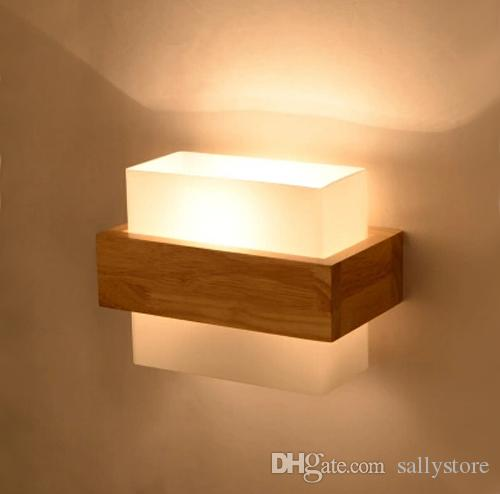 Best quality northern europe style aplik wood led wall for Apliques de pared para escaleras