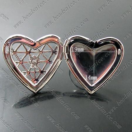 Beadsnice photo locket rings in silver plated color fits 19x14mm heart shape photos or pictures as birthday gifts or mothers gifts ID 13911