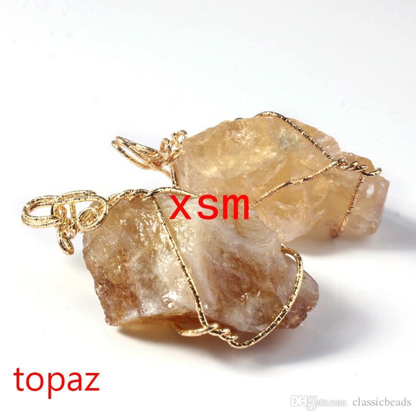 Natural Original Rock Pendant,Natural Rock Pendant Gold Plated Handwork Winding Persian Gulf Agate&Amethyst&Rose Quartz&Topaz Pendant