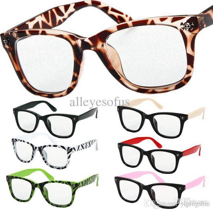 2018 Classic Euramerican Decorative Skulls Vintage Eyeglasses Frame ...
