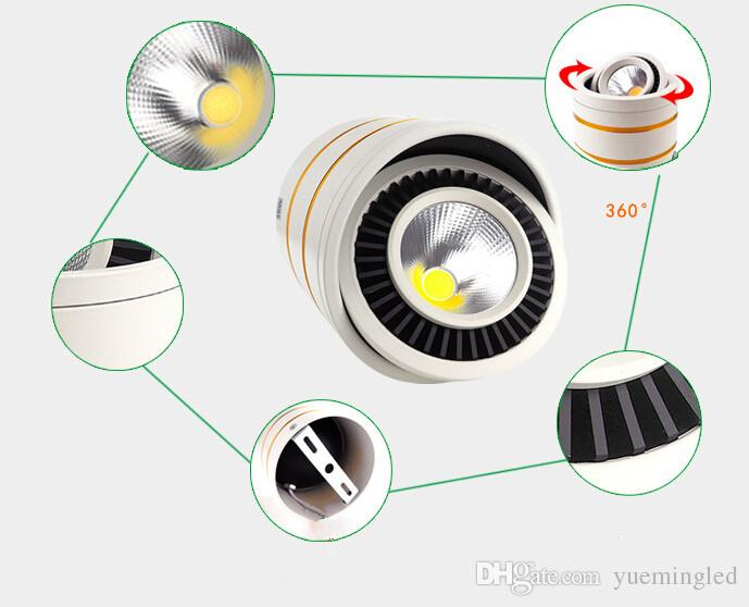 Wholesale price Dimmable Led COB Ceiling led downlight 7W 10W 15W 360 degree rotating Warm/white surface mounted Indoor Lighting