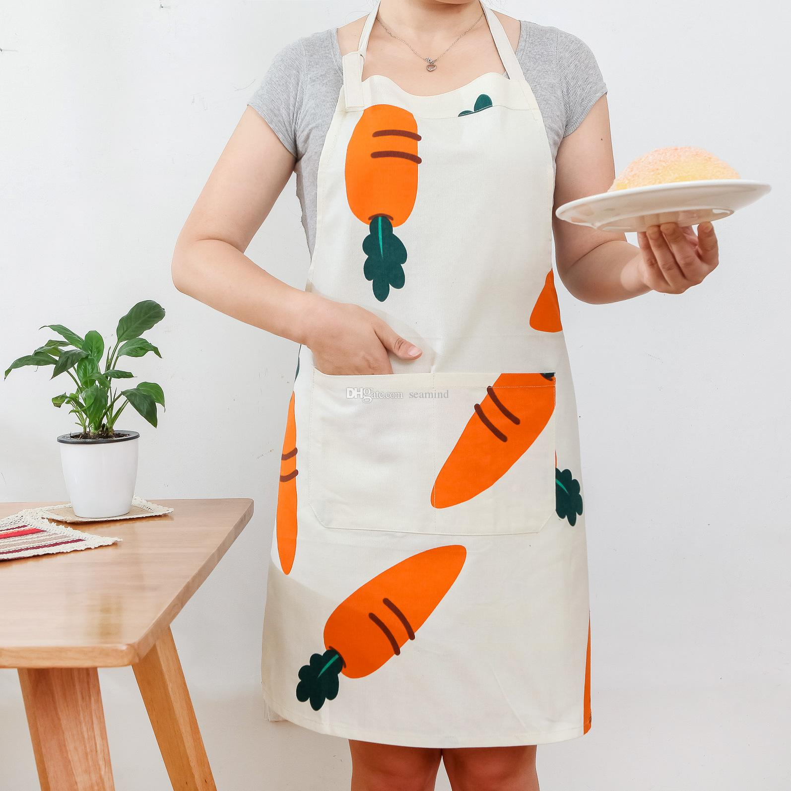 Cotton Linen Kitchen Apron Kids Women Apron Barbecue Restaurant ...