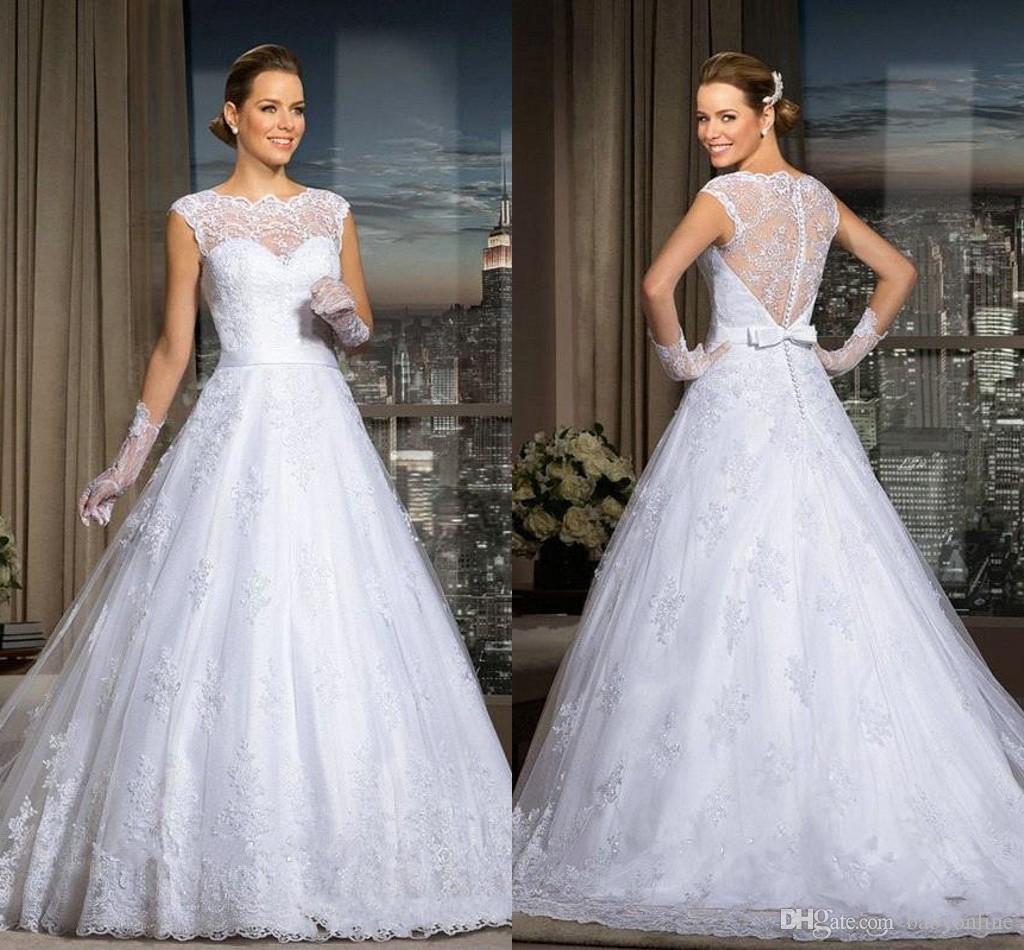 Discount 2017 Vestidos De Noiva A Line Wedding Dresses