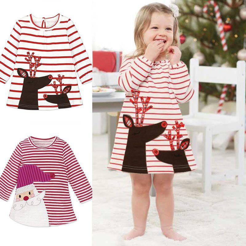 Compre Ins Niña Vestidos Santa Claus Vestido De Navidad Para Bebé ...
