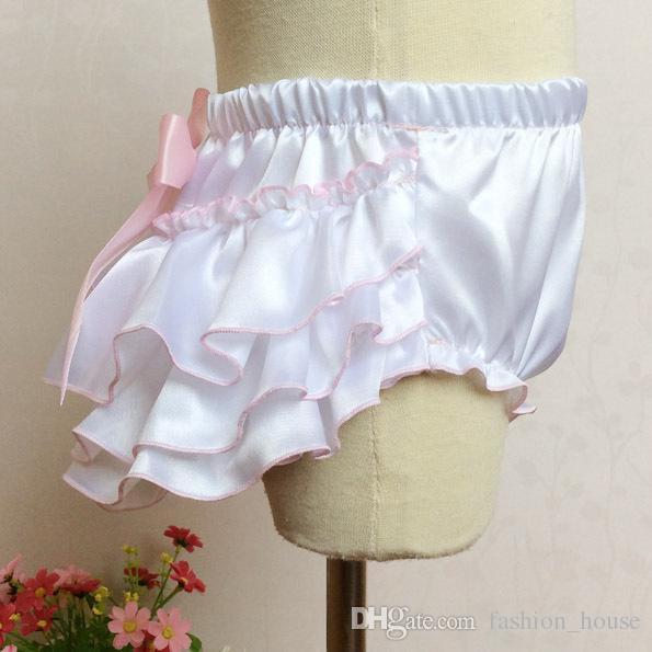 Baby Mädchen Kinder Bogen Säugling Kleinkind Satin Pumphose Spitze Pumphose Rose Blume Blumendruck Pumphose Windel bedeckt feste weiße Schichten