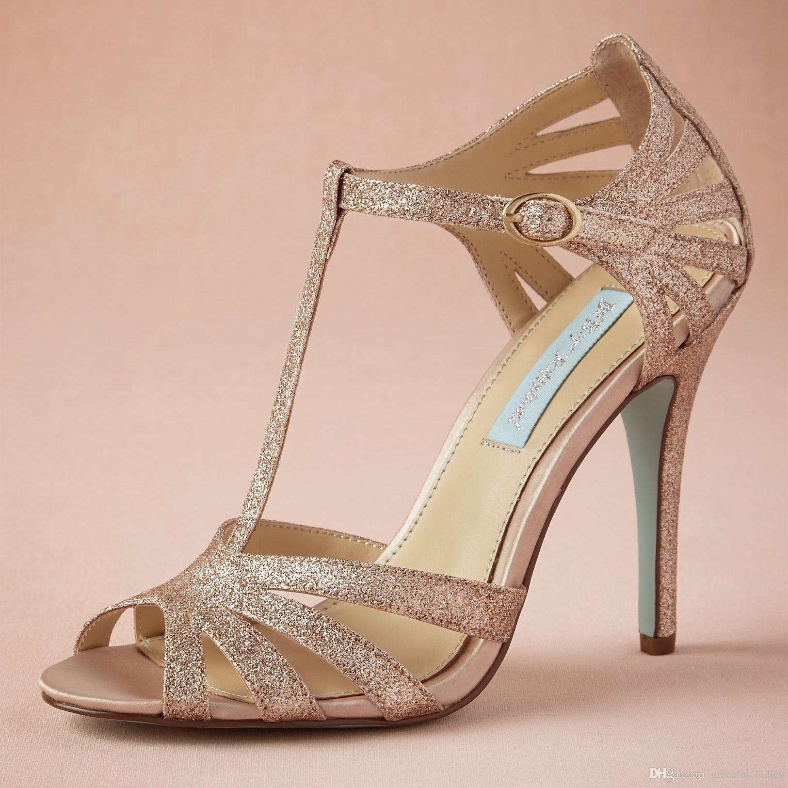 Rose Gold Colored Wedding Shoes
