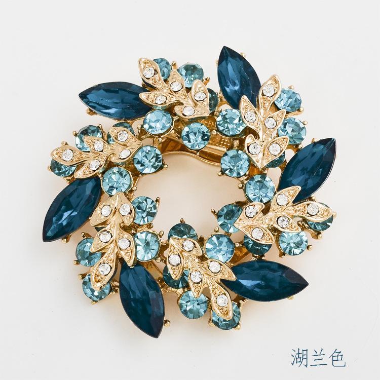 Fashion Jewelry Wholesale Korean high-grade diamond brooch crystal brooch scarf buckle dual Redbud Limited promotional