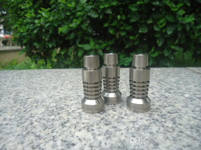 Universal Domeless Titanium Nail 14.4mm & 18.8mm Dual Function GR2 Wax Oil hookah smoking glass bubbler water pipes bong bongs ash dab rigs