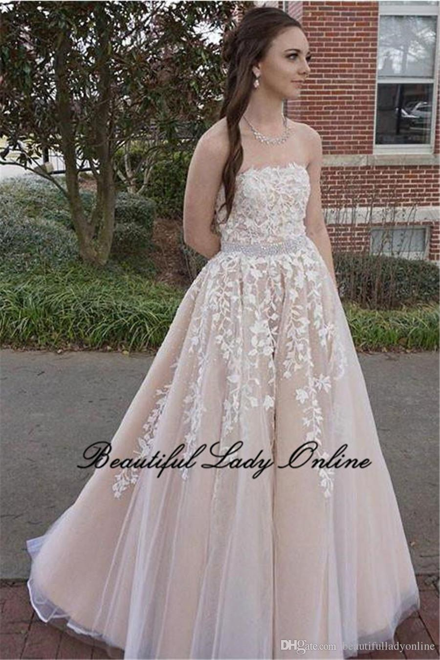 2d1d30da4 Vestidos de novia color champagne baratos – Vestidos blancos