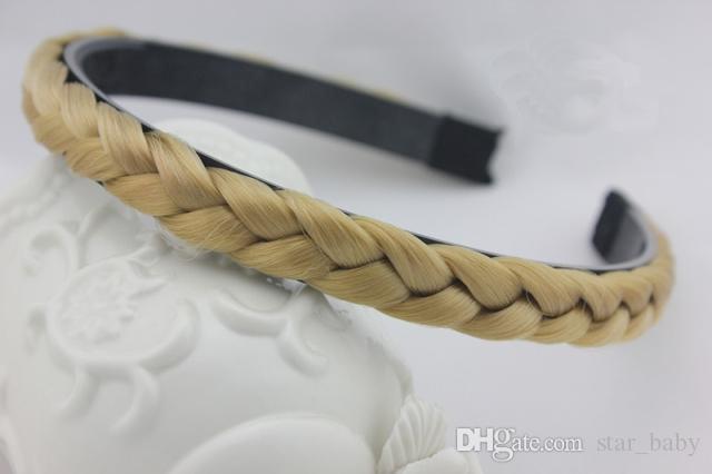 30 adet / grup Yeni Sentetik Moda Saç Bandı Kadın Için Kıvrımlı Bantlar Örgülü Saç Aksesuarları Ücretsiz Kargo K5636