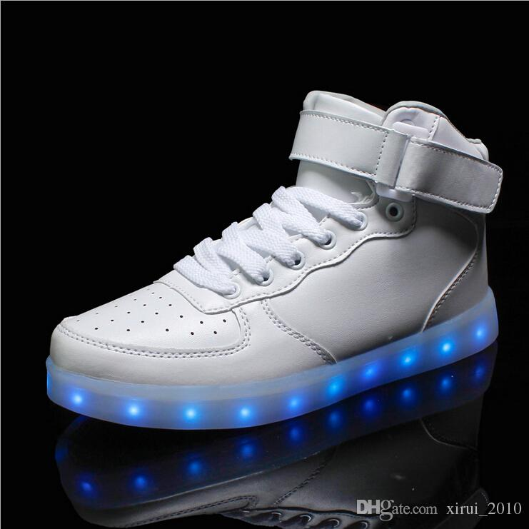 2015 hot christmas gifts lovers led night light couples men women light up trainer lace up shoes sneakers blue shoes clogs for women from xirui_2010