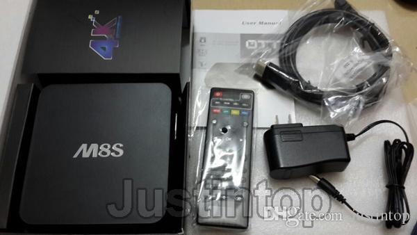 M8S KODI 4K Smart TV Amlogic S812 A9 Quad Core 2GB 8GB MINI PC Stream Android Media Player IPTV Full HD 3D Films Network Intenet Set Top Box