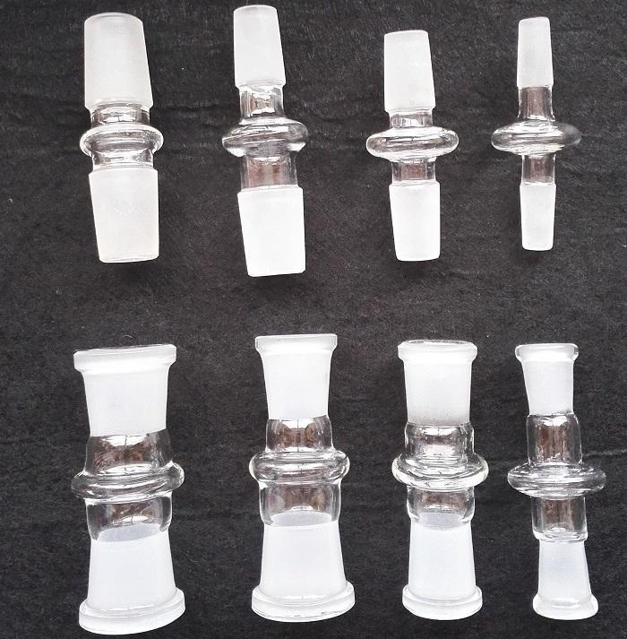 표준 유리 어댑터 7cm 물 담 뱃 대 그릇 어댑터 14-14 mm 남성 18-18 mm 남성 14-18 mm 여성 유리 어댑터 유리 물 파이프 봉 장비