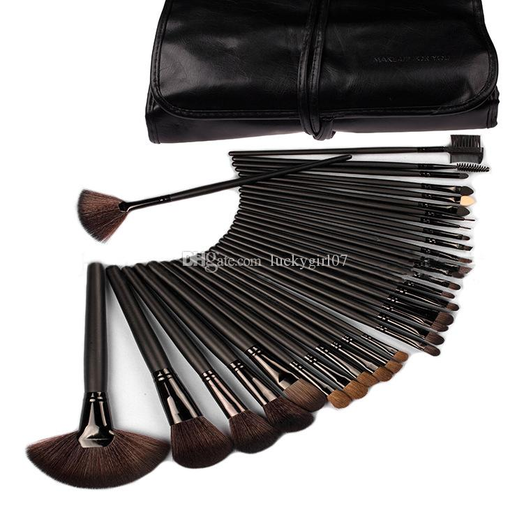/Professional Cosmetic Make Up Makeup Brushes Brush Set Black Pouch Bag, Wholesale,