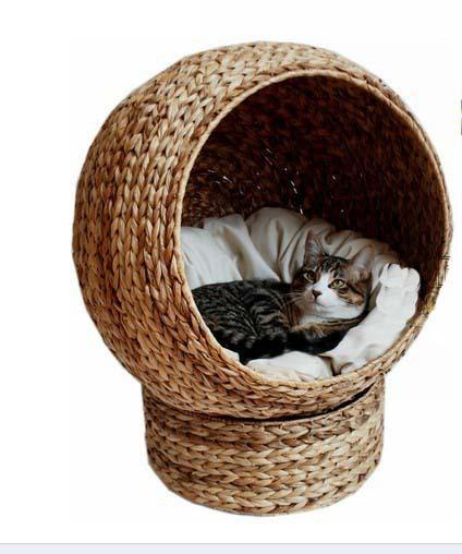 2019 Cozy Natural Banana Leaf Cat Cave Pet Product Cat