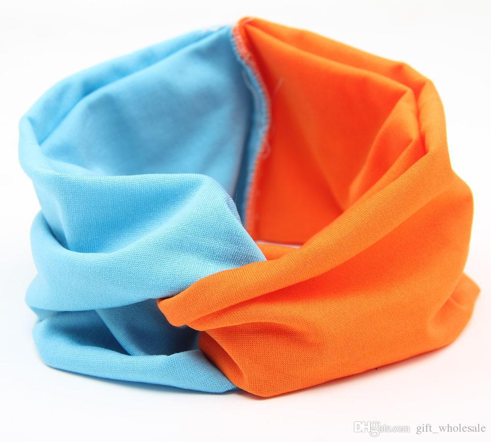Hot Sales New Solid Twist Sport Fashion Yoga Stretch Headbands Women Turban Bandana Head wrap Hair Accessories