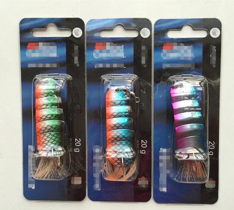20g 6cm Spoon Bait Ice Fishing Lure Metal Bait Ice False Bait Tackle Single Hook Salt or Fresh Water Fish Lure
