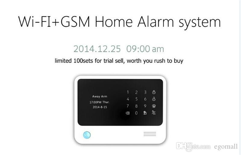G90B Touch Screen Keypad LCD Display Wifi GSM für IOS Android APP Wireless Home Security Alarm System mit Gas Detector