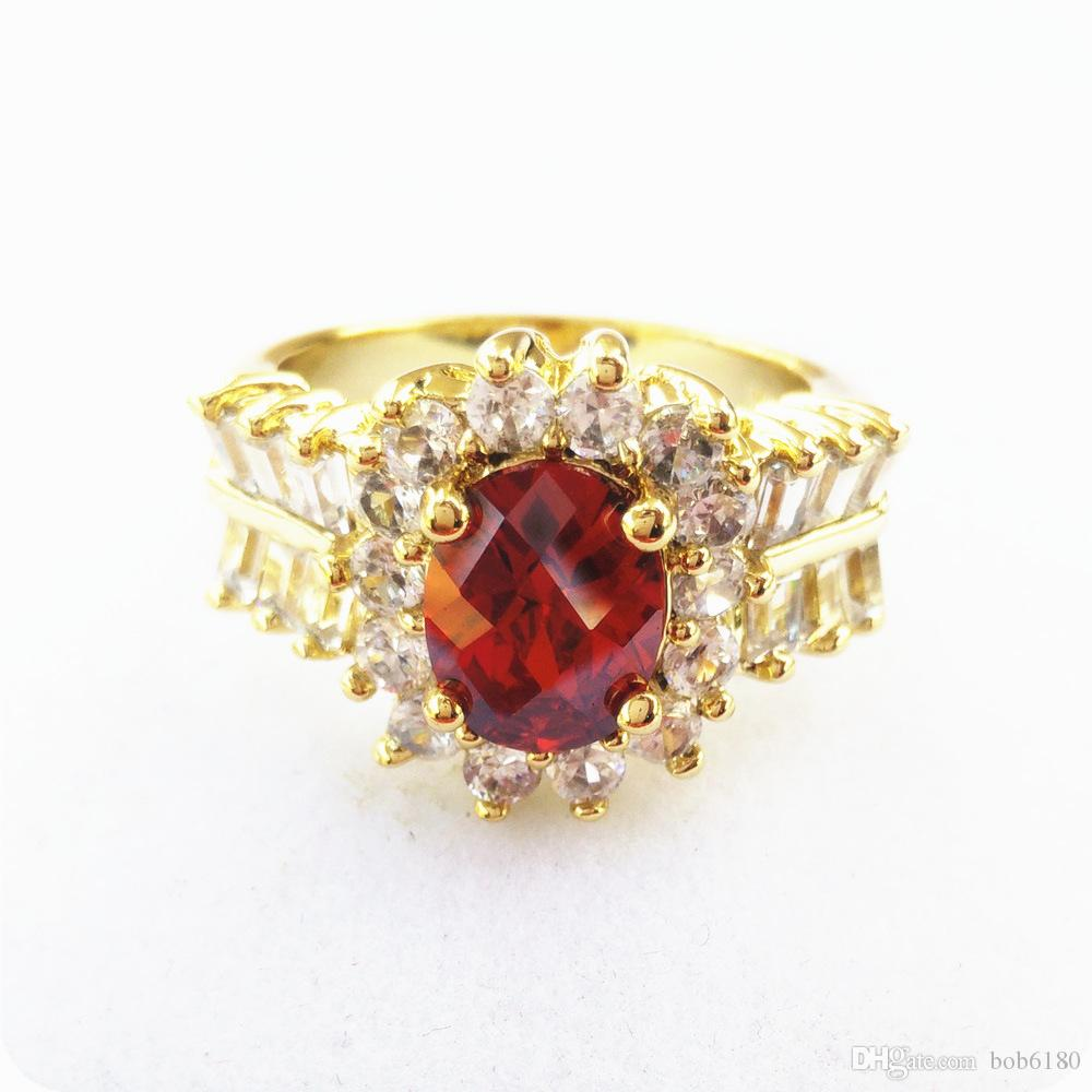 NUEVO MARAVILLOSO EXCEPCIONAL ANILLO GEMSTONE NATURAL 2.6CT RUBY 14KT GOLD -RY11