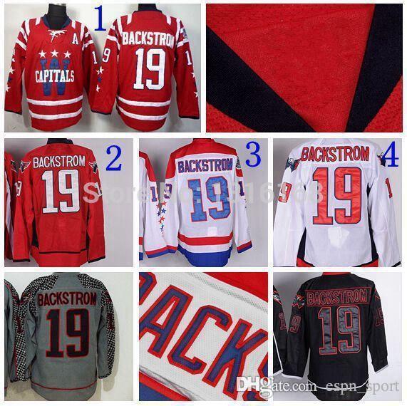 new style 25630 243fd 2015 Washington Ice Hockey 19 Nicklas Backstrom Jersey Red White Black Ice  Backstrom Winter Classic Jerseys 2015 Charcoal Cross Check