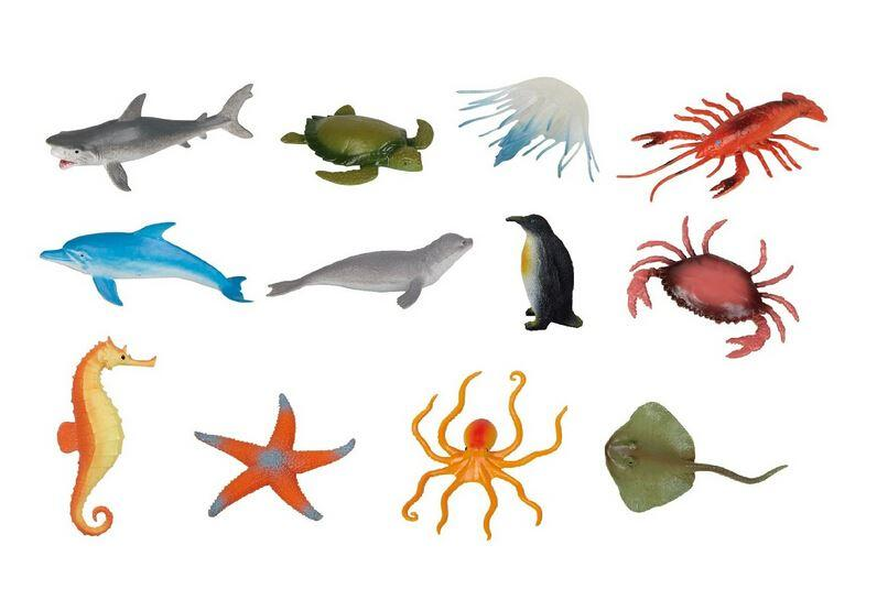 Sea Creature Toys : Sea creatures plastic marine animal models suit
