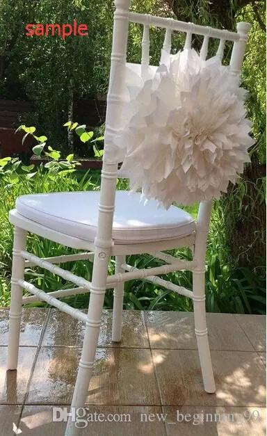 2018 Ivory Big 3D Flowers Chair Sashes Chair Covers Sample Link 09 Beautiful Wedding Supplies for Wedding Events