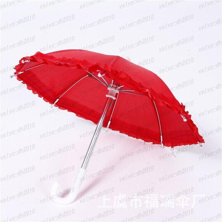 Dia 28cm Candy Color Solid Color Lace Umbrella Dance Umbrella Umbrella Toy Props Umbrella Special Multicolor LLFA4797F