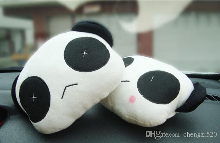 Die neue Fabrik Direct Selling niedlichen Panda Plüsch Kopfstütze Kopfstütze Auto liefert Jushi liefert =