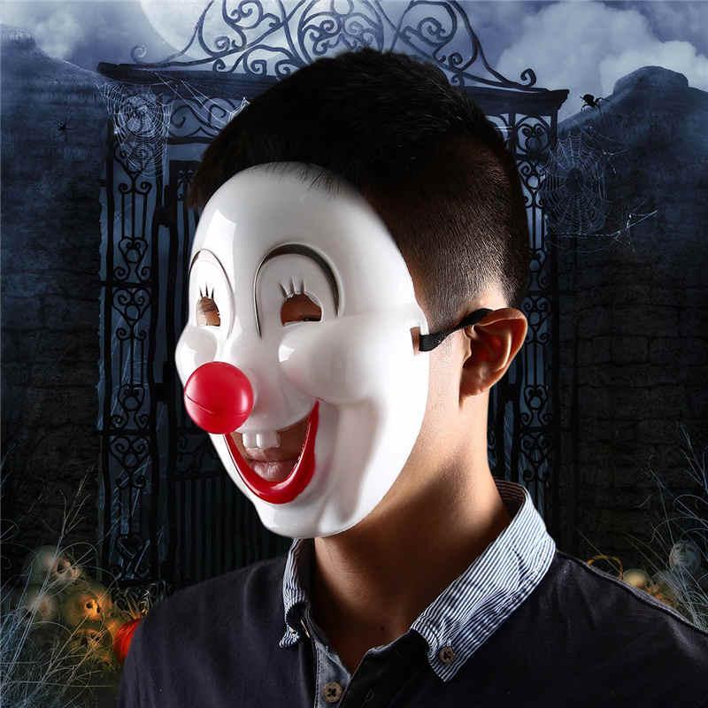 2015 Halloween Jester Jolly Cartoon Maschera Rifornimenti del partito festivo veneziano Mardi Gras maschere le maschere da ballo in PVC Full Face Mens Clown Mask