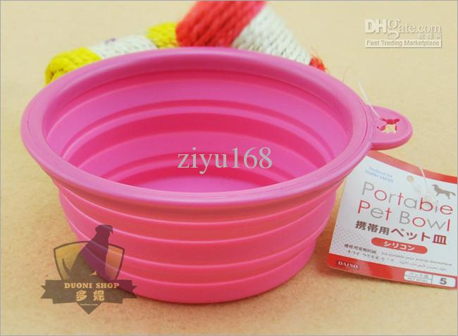 High Grade Fold Pet Bowl High Quality Folding Dog Bowl Pet Food Dish Pet Feeders