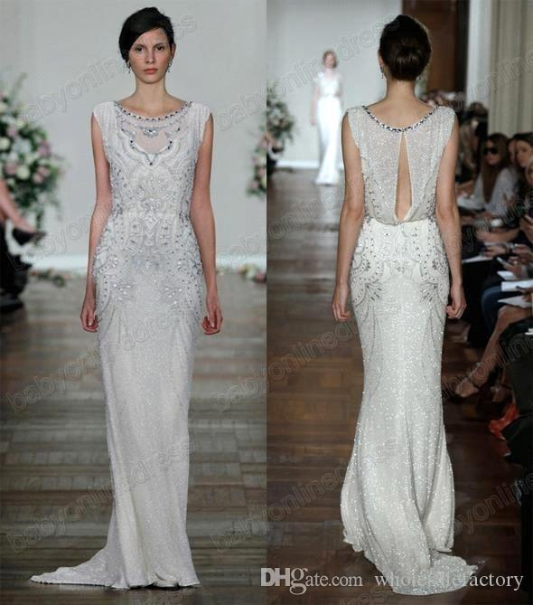2016 sexy new jenny packham stunning cap sleeves mermaid wedding 2016 sexy new jenny packham stunning cap sleeves mermaid wedding dresses v neck tulle beaded crystals floor length bridal gown bo3904 jenny packham mermaid junglespirit